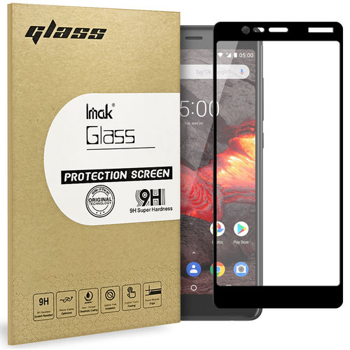 Full Coverage Tempered Glass Screen Protector for Nokia 5.1 - Black